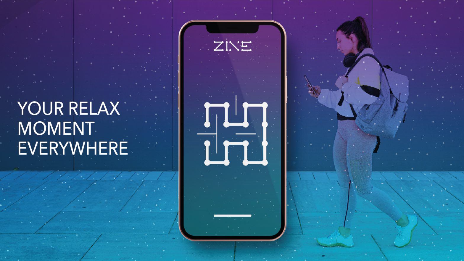 Zine - One line relaxing game banner